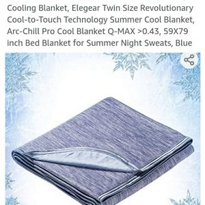 Cooling Blanket-Twin Size-Blue-NWOT